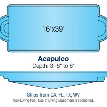 Classic Pool Design - Acapulco | Paradise Pools