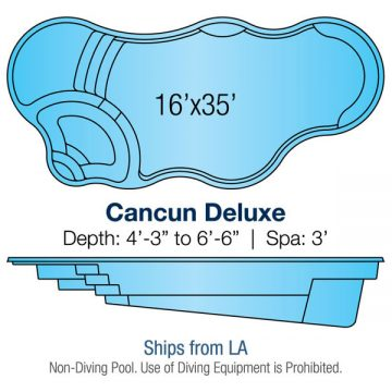Modern Freeform Pool Design - Cancun Deluxe | Paradise Pools