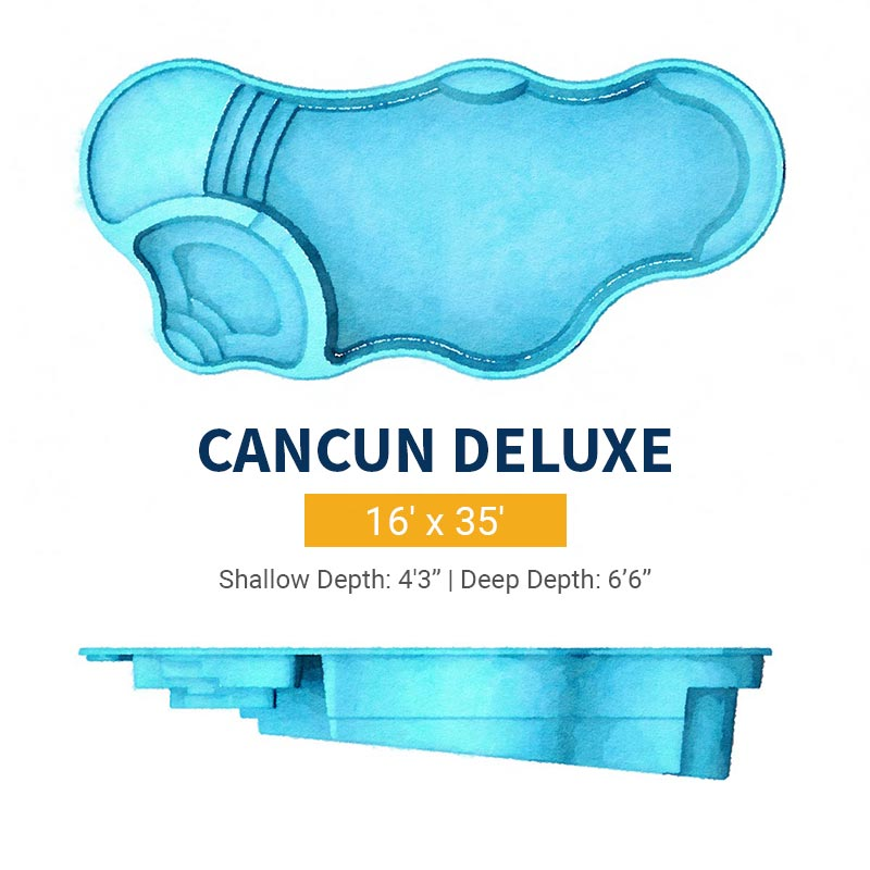 Freeform Pool Design - Cancun Deluxe | Paradise Pools
