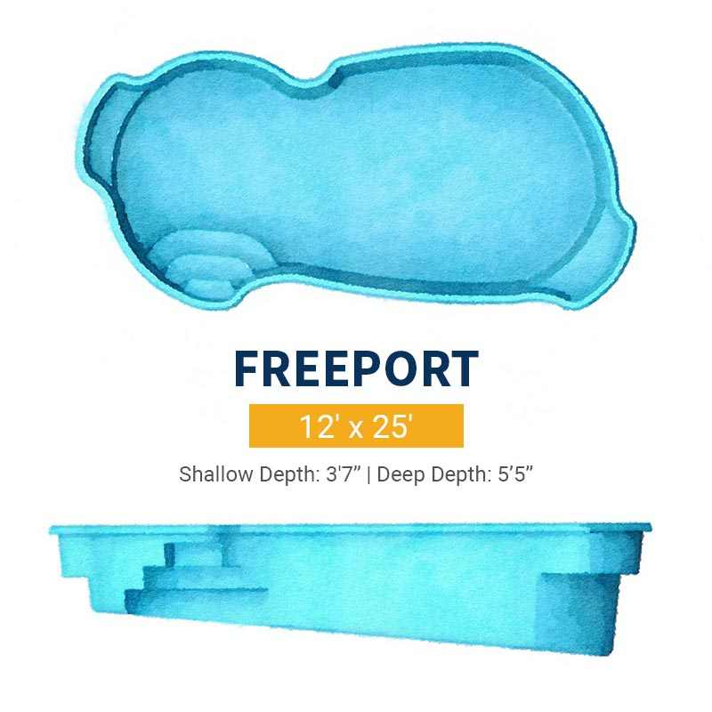 Freeform Pool Design - Freeport | Paradise Pools