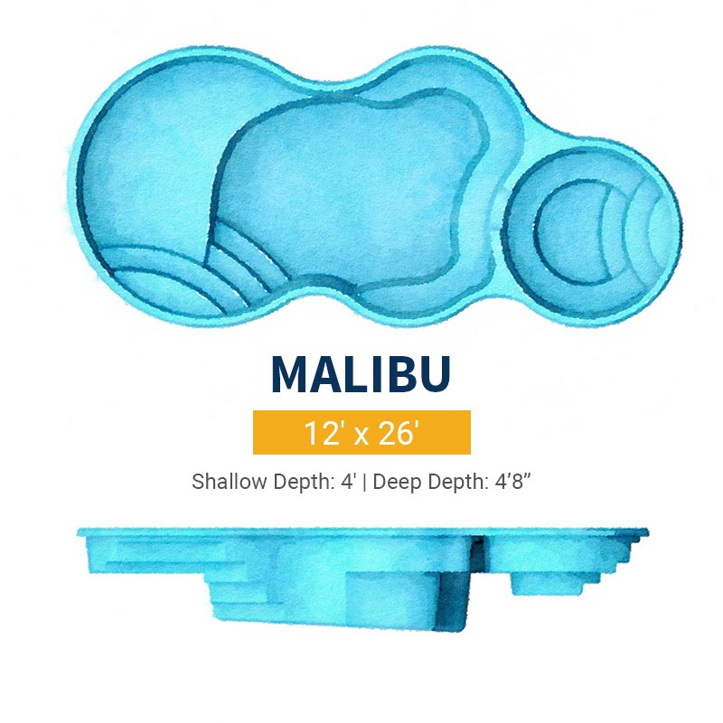 Freeform Pool Design - Malibu | Paradise Pools