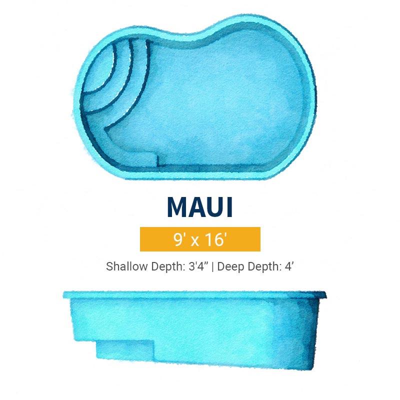 Freeform Pool Design - Maui | Paradise Pools