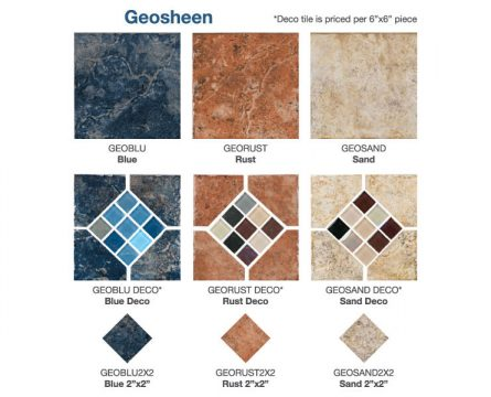 Geosheen Tile Options | Paradise Pools