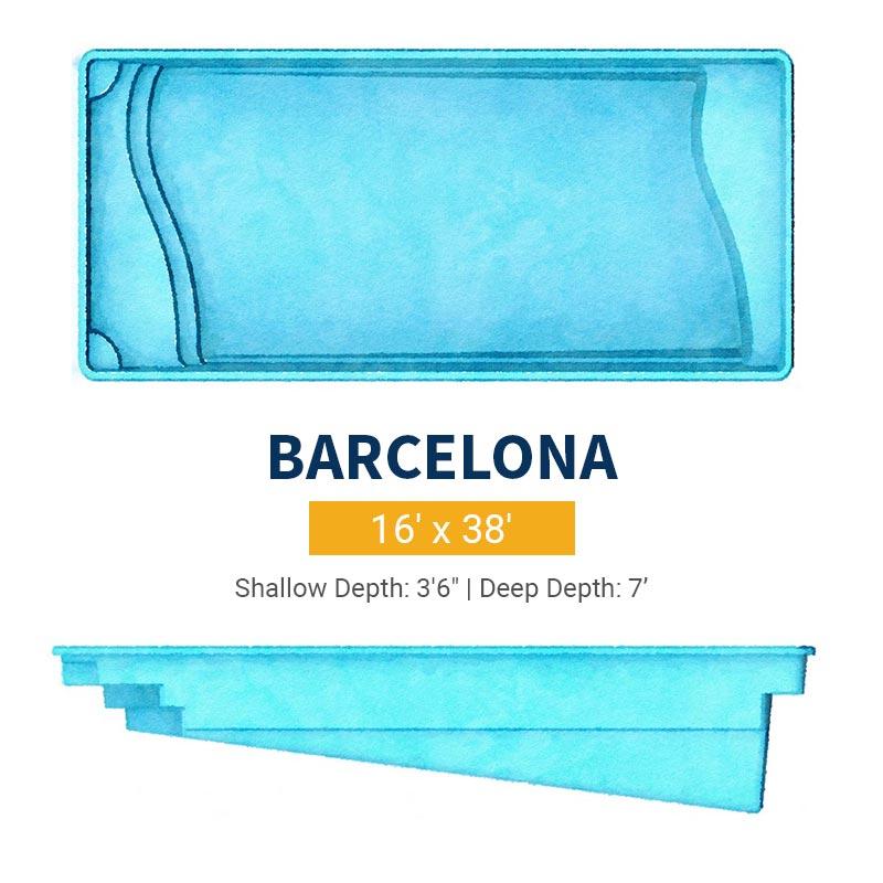 Rectangle Pool Design - Barcelona | Paradise Pools