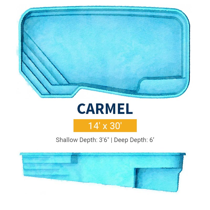 Rectangle Pool Design - Caramel | Paradise Pools