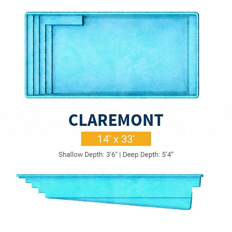 Rectangle Pool Design - Claremont | Paradise Pools