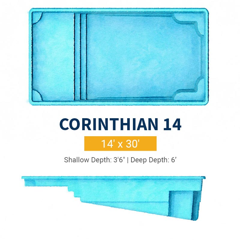 Rectangle Pool Design - Corinthian 14 | Paradise Pools