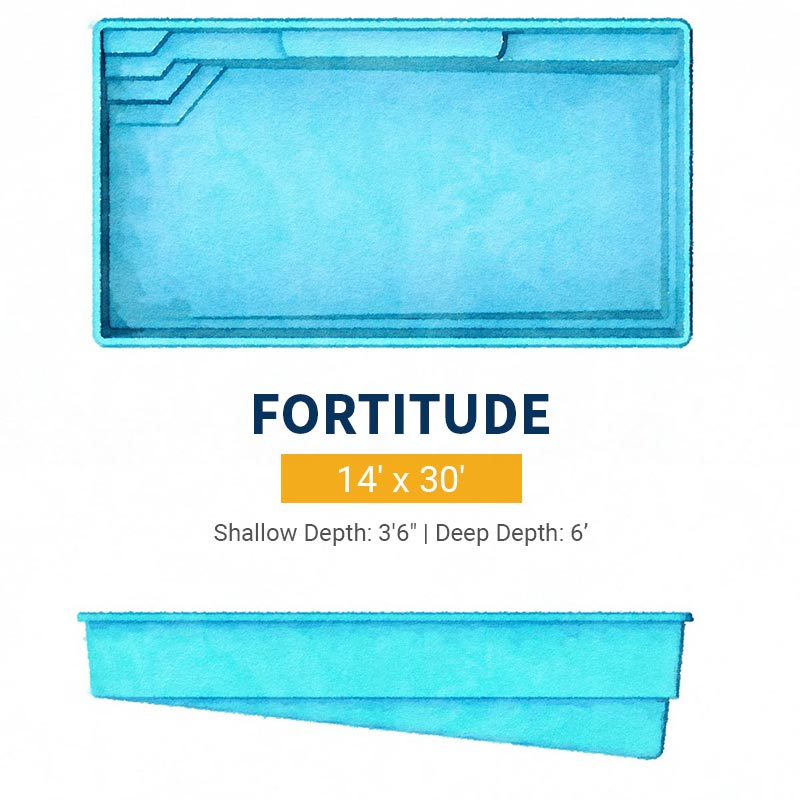 Rectangle Pool Design - Fortitude | Paradise Pools
