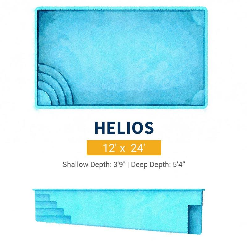 Rectangle Pool Design - Helios | Paradise Pools