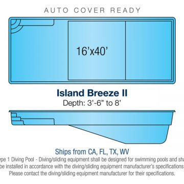 Rectangle Pool Design - Island Breeze II | Paradise Pools
