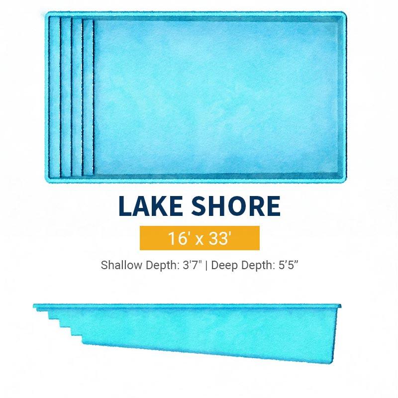 Rectangle Pool Design - Lake Shore | Paradise Pools
