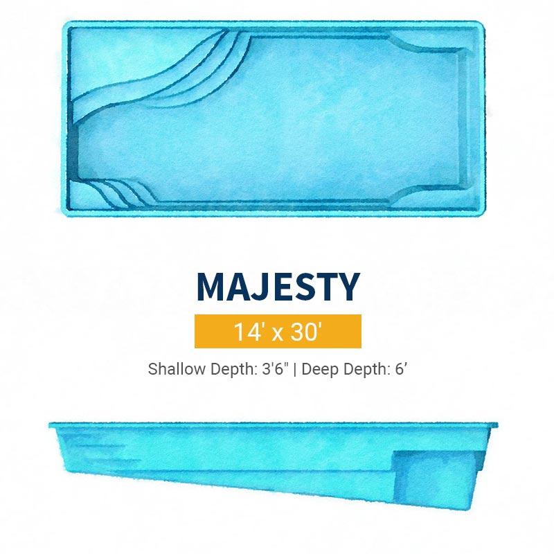 Rectangle Pool Design - Majesty | Paradise Pools