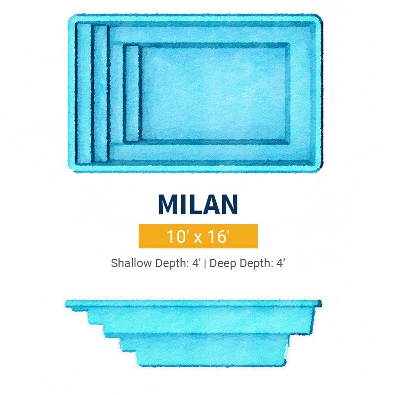 Rectangle Pool Design - Milan | Paradise Pools