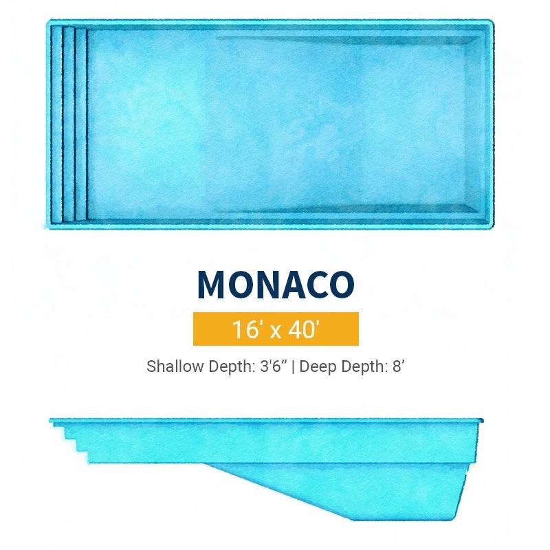 Rectangle Pool Design - Monaco | Paradise Pools