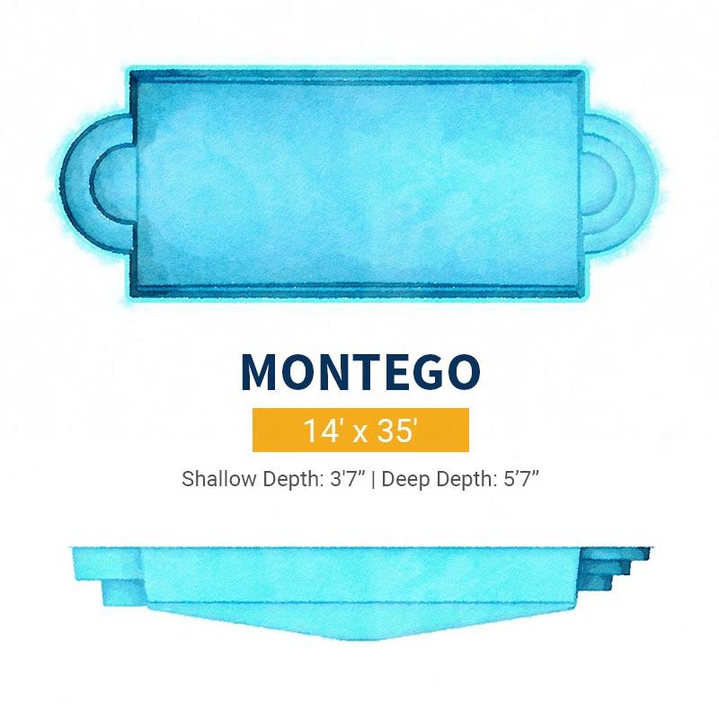 Rectangle Pool Design - Montego | Paradise Pools