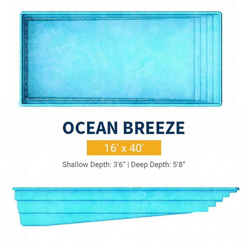 Rectangle Pool Design - Ocean Breeze | Paradise Pools