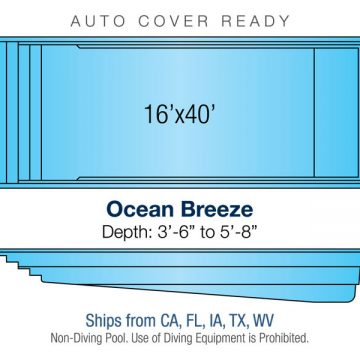 Rectangle Pool Design - Ocean Breeze | Paradise Pools