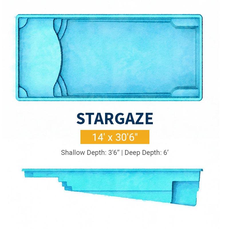 Rectangle Pool Design - Stargaze | Paradise Pools