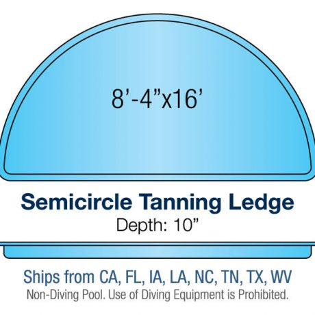 Tanning Ledge Pool Design - Semicircle | Paradise Pools