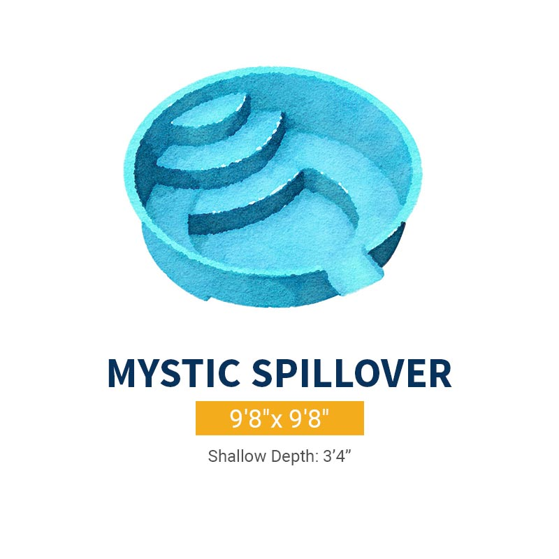 Spa Pool Design - Mystic Spillway | Paradise Pools