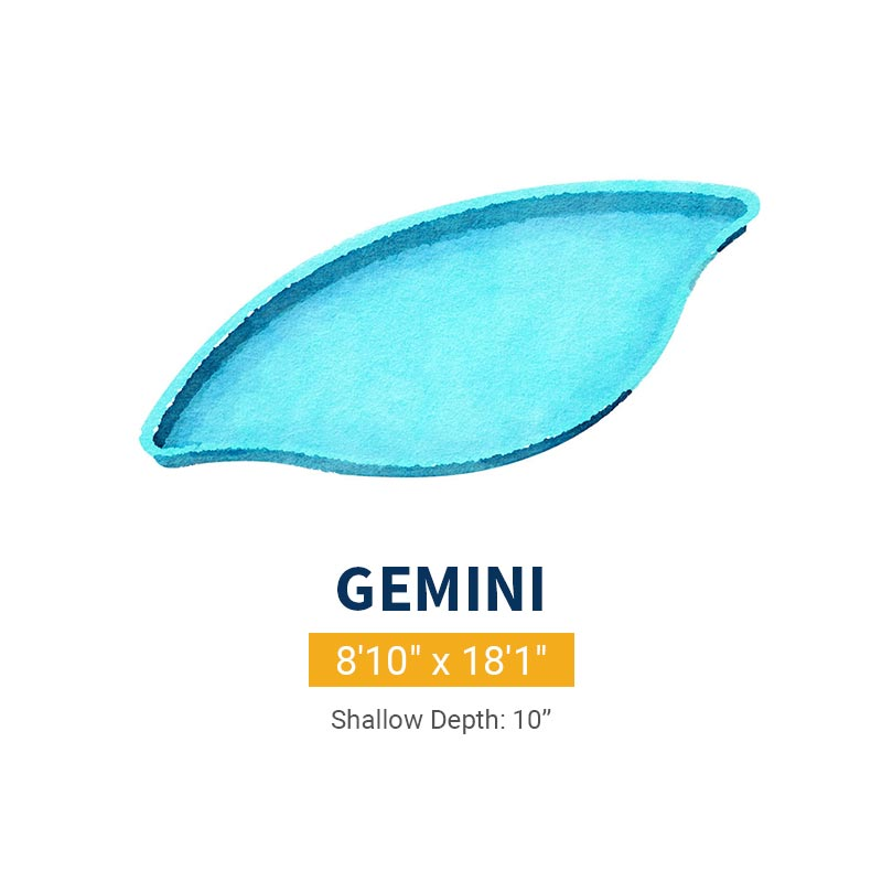 Tanning Ledge Pool Design - Gemini | Paradise Pools